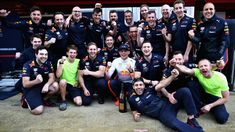 Max celebrates with his car crew following his P3 and first podium of the season at the Spanish Grand Prix Spanish Grand Prix, Red Bull Racing, F 1, Aston Martin, Pitch, About Me Blog, Guys, Celebrities, Formula 1