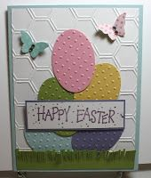 Stamp With Sue, Easter Card using Large Oval Punch