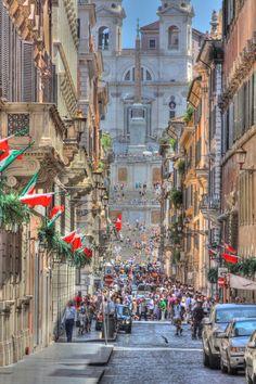 Italia! (Trinità dei Monti al fondo), Rome, Province of Rome , Lazio region Italy