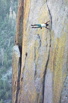 Dan Osman free soloing in Yosemite