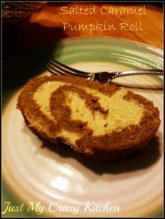 Salted Caramel Pumpkin Roll on MyRecipeMagic.com