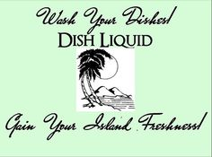 Wash Your Dishes! GAIN your ISLAND FRESHNESS! Dish Liquid on Etsy, $3.75