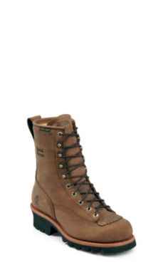 """MEN'S 8"""" BAY APACHE WATERPROOF LOGGER RUGGED OUTDOOR BOOTS"""