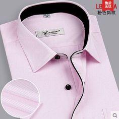 2016Brand SummerPlus Size Men Shirt Slim Fit Striped Business