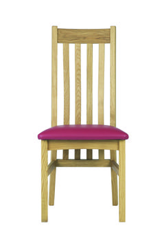 Bordeaux Slatted Chair (other fabrics and leathers available)