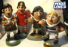 Muñecos de Rugby / Diseñados con masilla epoxi pintados a mano.
