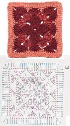 Crochet niffler cardigan a punto alternato a zig zag nunzia valenti – ArtofitCrochet Granny Square Rose S - SalvabraniCrochet flower very easy tutorial – Artofit Crochet Motif Patterns, Granny Square Crochet Pattern, Crochet Diagram, Crochet Chart, Crochet Squares, Crochet Designs, Granny Squares, Crochet Double, Crochet Granny