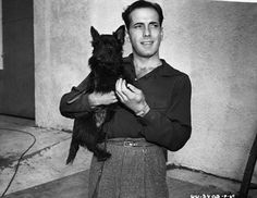 Humphrey Bogart with one of his Scottie dogs