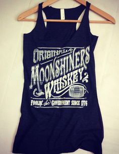 Vintage Original Moonshiners Whiskey Triblend Racerback Tank Top on Etsy, $23.01 CAD