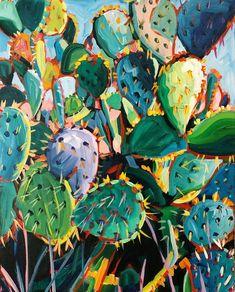Cactus Patch — Sari Not Sorry Art from Sari Shryack – Cactus Flower Painting, Art Painting, Art Inspo, Drawings, Cactus Art, Painting, Oil Painting, Desert Art, Art
