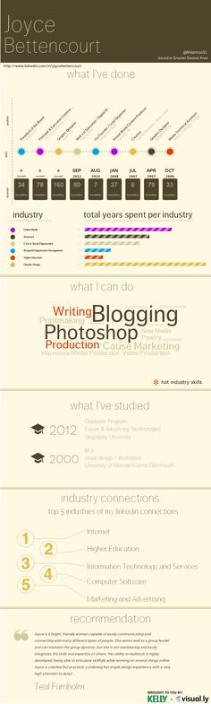 an infographic version of my resume thanks to Visually