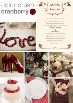 Color Crush: Cranberry using cranberry as your wedding color? get inspired!
