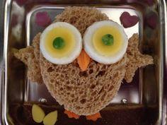 veggie-bento.com - owl cheese sandwich