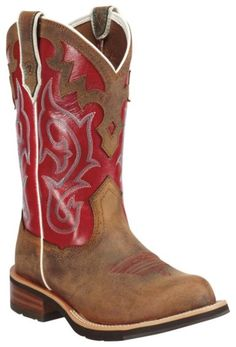 Ariat Unbridled Red Cowgirl Boots - Round Toe - Sheplers