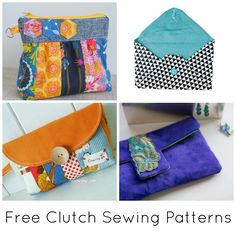 Stitch up a trendy new accessory without breaking the bank! These stylish clutch sewing patterns are completely FREE, and are the perfect project for using up those scraps you have lying around.