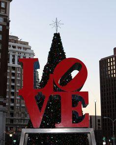 Love Park at Christmas