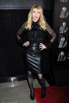 Strike a pose: Love's slender frame was put on show as she struck a classic pose on the re...