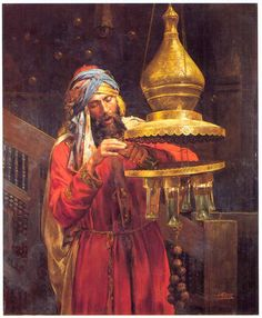 The Lamp Cleaner, by Antonio Fabres y Costa. The light and his expression of concentration make this such a wonderful painting. Portrait Photos, Empire Ottoman, Arabian Art, Islamic Paintings, Old Egypt, Exotic Art, Academic Art, Pics Art, Historical Art