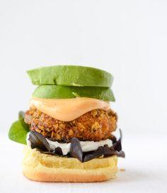 Tortilla Crusted Chipotle Salmon Sliders #burger -  #tortilla