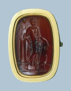 Bacchus and a Panther intaglio ring from Ancient Rome, 1st century A.D. From the Hermitage Museum.