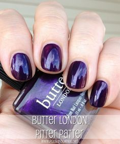 butter LONDON Pitter Patter......... #nails #polish #London