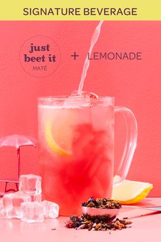 Just Beet It Lemonade Signature Beverage Recipe - Steep Thoughts Fruit Drinks, Beverages, Tea Facts, Bette, Davids Tea, Perfect Cup Of Tea, Iced Tea Recipes, New Menu, Getting Things Done
