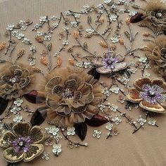 Embroidery Designs By Hand Embellishments Haute Couture 50 Trendy Ideas Zardozi Embroidery, Hand Embroidery Dress, Tambour Embroidery, Hand Embroidery Videos, Bead Embroidery Patterns, Embroidery Suits Design, Embroidery On Clothes, Couture Embroidery, Embroidery Works