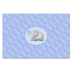Baby shower baby boy postage baby shower ideas party babies personalized all over name cute elephant nursery tissue paper baby shower ideas party babies negle Choice Image