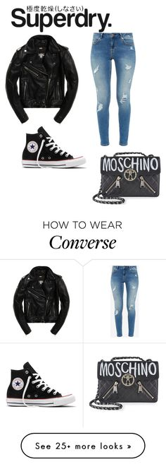 """""""The Cover Up – Jackets by Superdry: Contest Entry"""" by cooperlili on Polyvore featuring Superdry, Ted Baker, Converse and Moschino"""