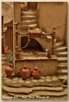 Photos of Emilio Morenatti Gil Nativity scenes. Christmas Crib Ideas, Christmas Home, Christmas Crafts, Christmas Decorations, Archaeology For Kids, Hobby House, Christmas Nativity Scene, Nativity Scenes, Modelos 3d