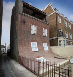 Innovative facade installation by Alex Chinneck