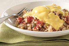 Western Hash recipe - I'm going to substitute the onion, green pepper and can of tomatoes with a can of Rotel!