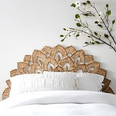 Wood Carved Faux Headboard #pbteen