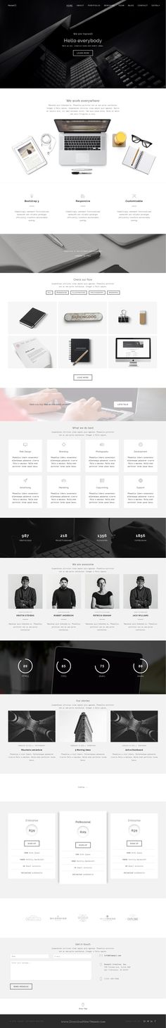 Haswell is bold and #minimal Creative Bootstrap HTML parallax Template for Agency