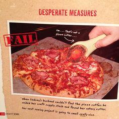 Rotary cutter pizza cutter?