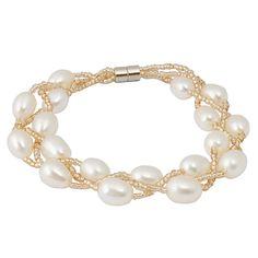 Elegant Beaded Personalized Pearl Bracelet