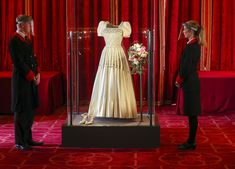 Princess Beatrice Sees Her Wedding Dress (Borrowed from the Queen!) on Display at Windsor Castle Royal Brides, Royal Weddings, Wedding Dress Display, Princess Beatrice Wedding, Low Key Wedding, Wedding Gowns, Wedding Day, Royal Collection Trust, Dress Alterations