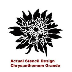 Cutting Edge Stencils - Chrysanthemum Grande Flower Stencil...great idea for the front pation...use glow in the dark paint for stepping stones