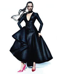 Vogue España December 2012, Kate Moss