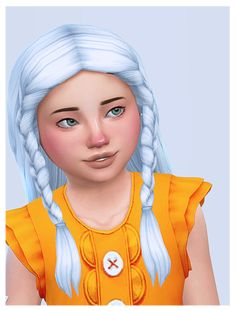 """""""miranda hair + clips by converted for children. natasha hair by imvikai converted for children. Sims 4 Cc Eyes, Sims 4 Mm Cc, Sims Four, Sims 4 Cas, My Sims, Sims 4 Expansions, Pelo Sims, Sims 4 Cc Kids Clothing, Sims 4 Children"""