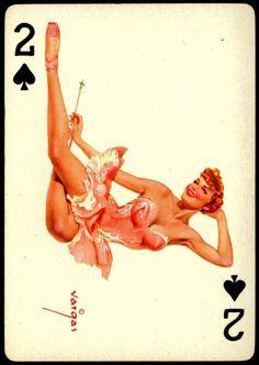 Alberto Vargas - Pin-up Playing Cards (1950) - 2 of Spades