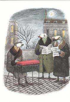 Caroling by Edward Gorey