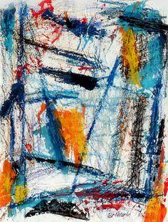 N°622 Pat Pellerin. Acrylique et crayon gras sur carton toilé 40x50 cm.