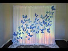 Butterfly Backdrop DIY - YouTube