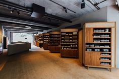Cafe Design, Store Design, Interior Design, Aesop Shop, Moving Walls, Cafe Furniture, Cosmetic Shop, Perfume, Retail Shop