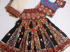 Navratri Chaniya choli Indian Designer Lehenga Choli by mfussion, $115.00