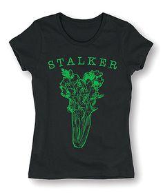 Black & Green 'Stalker' Celery Tee #zulily #zulilyfinds