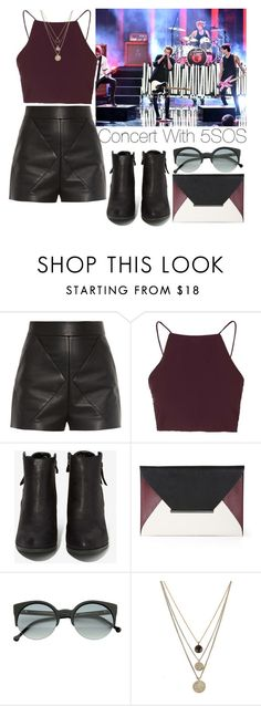 """""""Concert with 5 Seconds of Summer"""" by lovatic92 ❤ liked on Polyvore featuring Balenciaga, Topshop, N.Y.L.A., BCBGMAXAZRIA, RetroSuperFuture and LowLuv"""