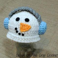 Preemie Earmuff Snowman Hat ~ free pattern ᛡ