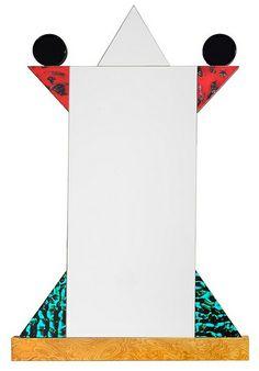 """Diva"" mirror by Sottsass '84 | Flickr - Photo Sharing! Memphis Furniture, Memphis Milano, Glamour Decor, 1980s Design, Memphis Design, Design Movements, Weird Shapes, Bukowski, Colorful Decor"